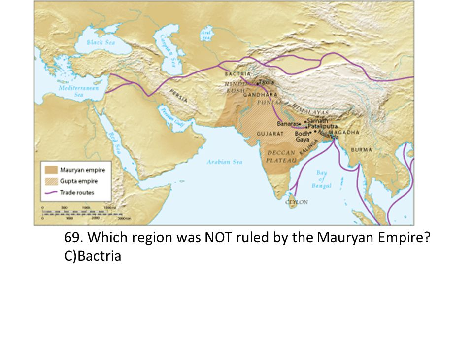 69. Which region was NOT ruled by the Mauryan Empire