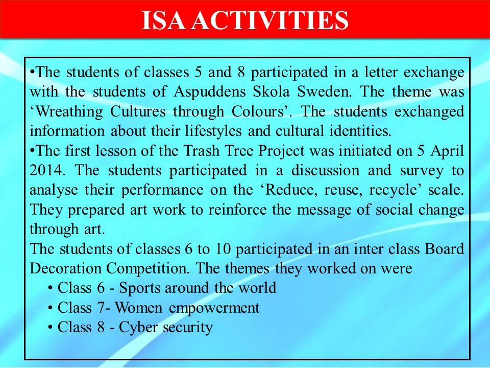 ISA ACTIVITIES