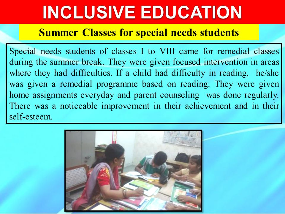 Summer Classes for special needs students