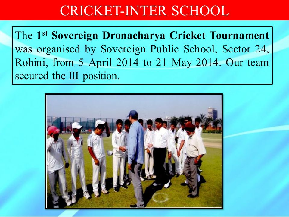 CRICKET-INTER SCHOOL