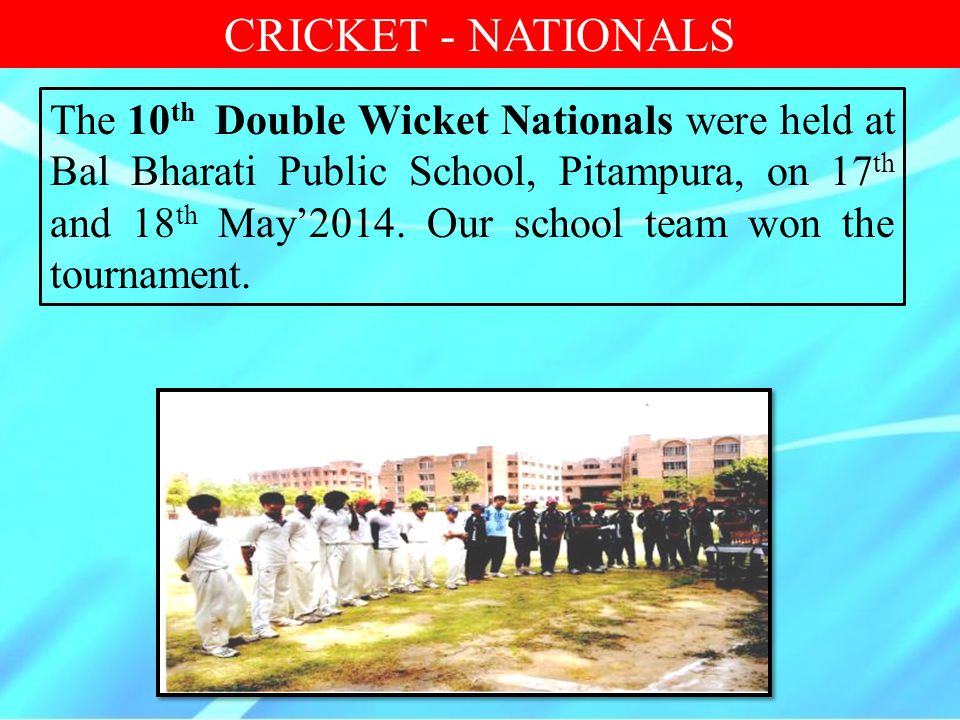CRICKET - NATIONALS