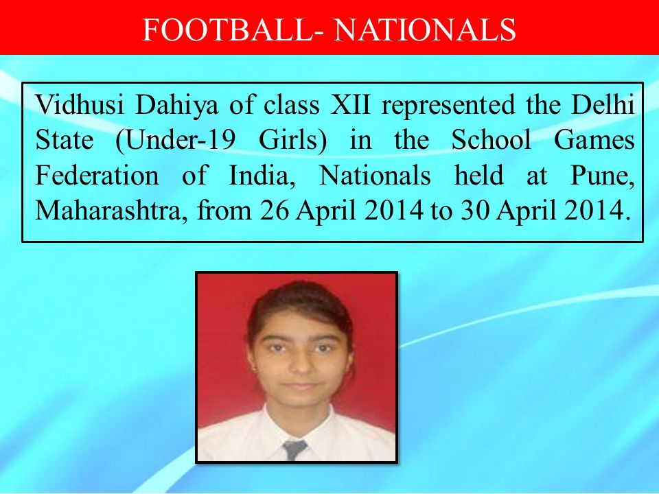 FOOTBALL- NATIONALS
