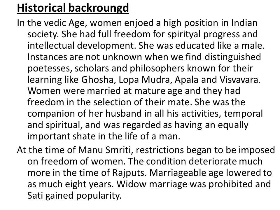 Historical backroungd