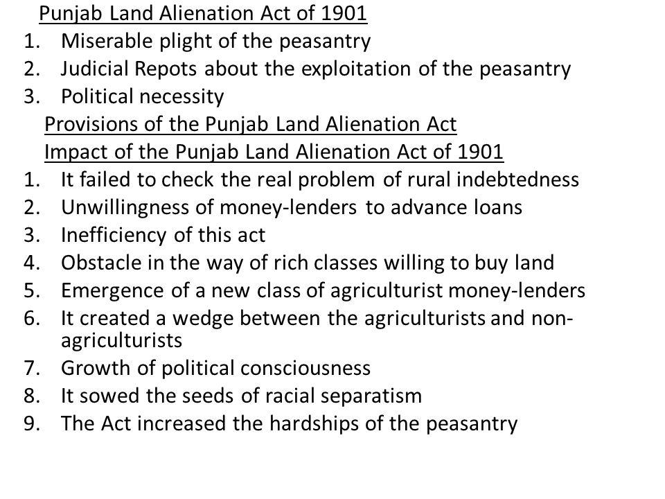 Punjab Land Alienation Act of 1901