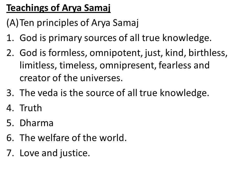 Teachings of Arya Samaj