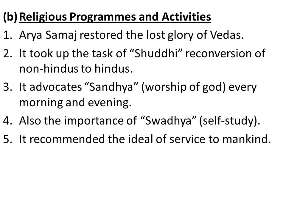 Religious Programmes and Activities
