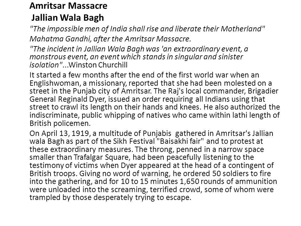 Jallian Wala Bagh Amritsar Massacre