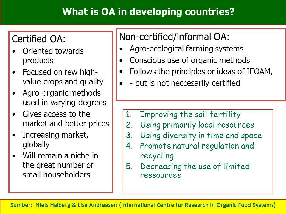 What is OA in developing countries