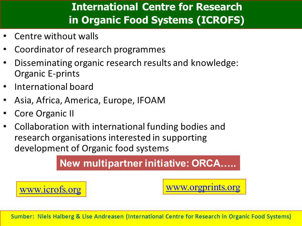 International Centre for Research in Organic Food Systems (ICROFS)