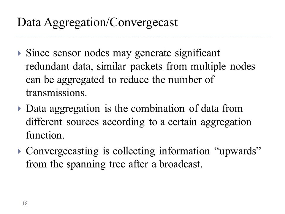 Data Aggregation/Convergecast