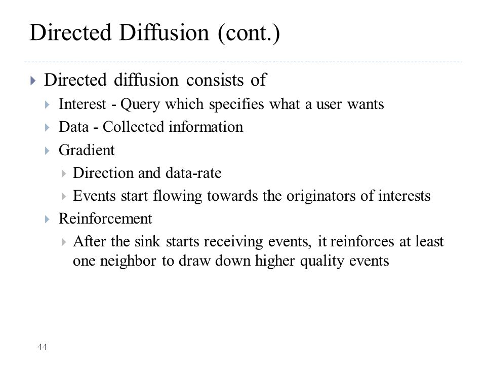 Directed Diffusion (cont.)