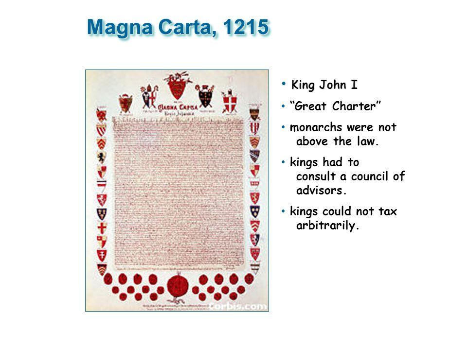 Magna Carta, 1215 King John I Great Charter