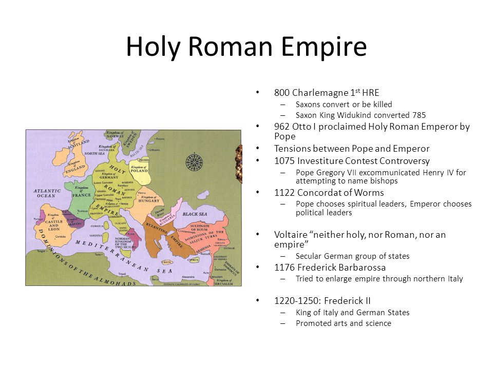 Holy Roman Empire 800 Charlemagne 1st HRE
