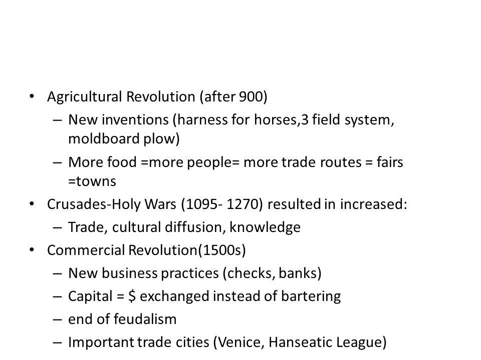 Agricultural Revolution (after 900)