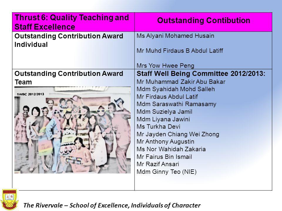 Outstanding Contibution