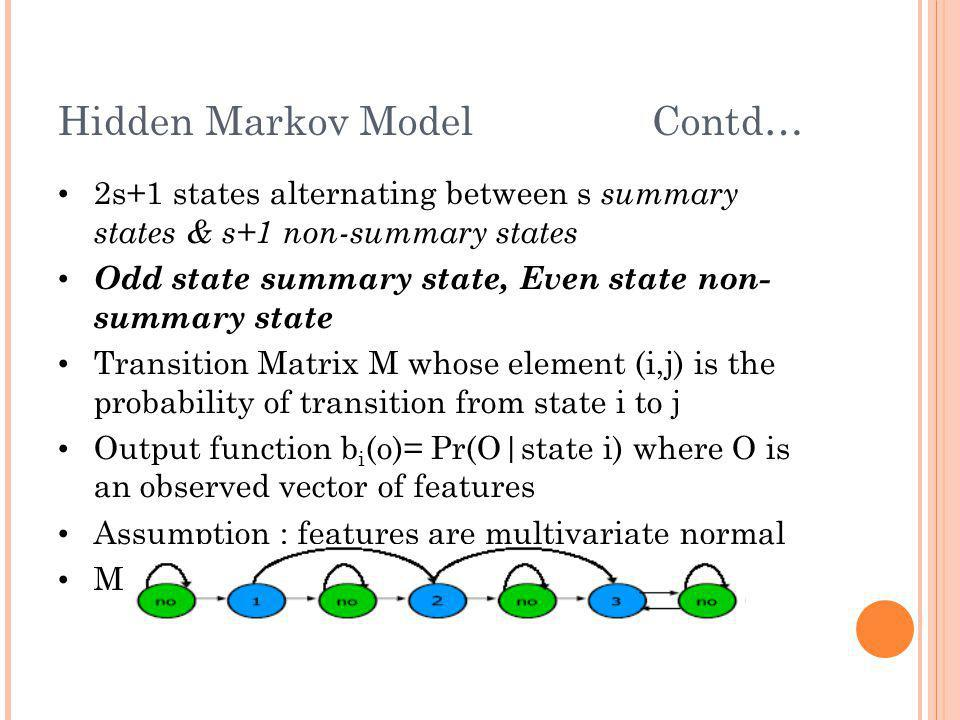 Hidden Markov Model Contd…