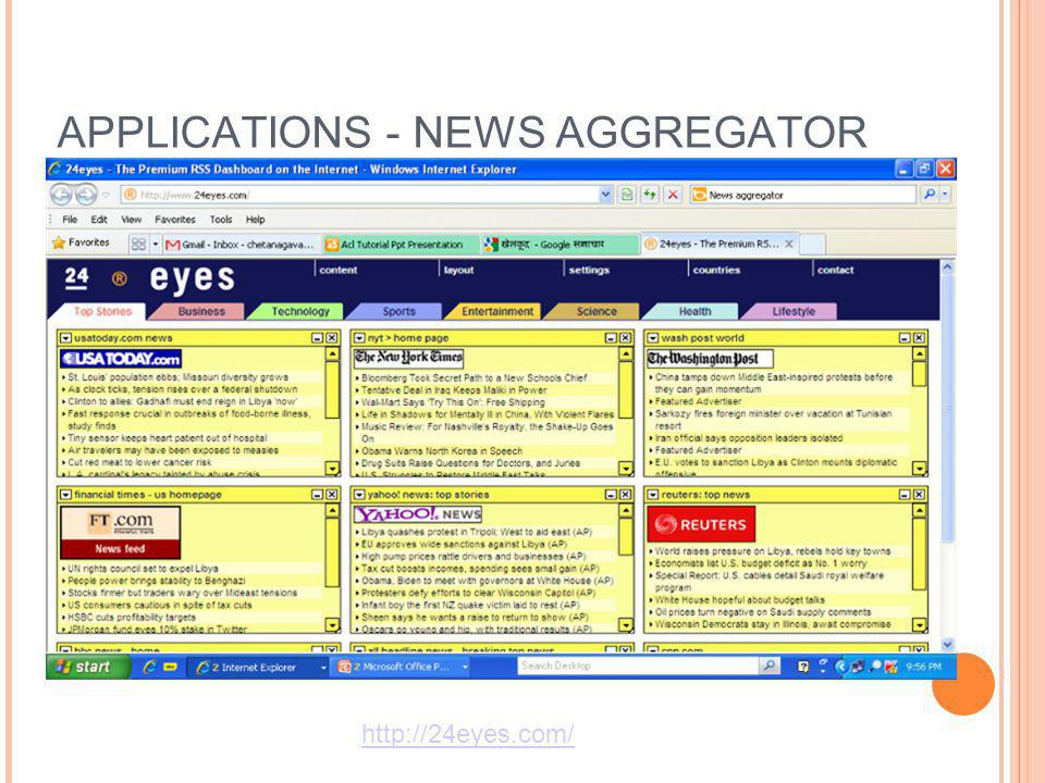 APPLICATIONS - NEWS AGGREGATOR