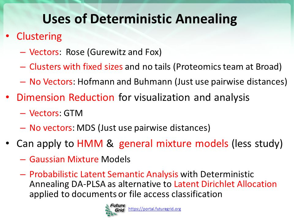 Uses of Deterministic Annealing