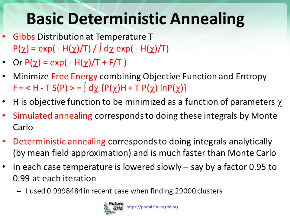 Basic Deterministic Annealing