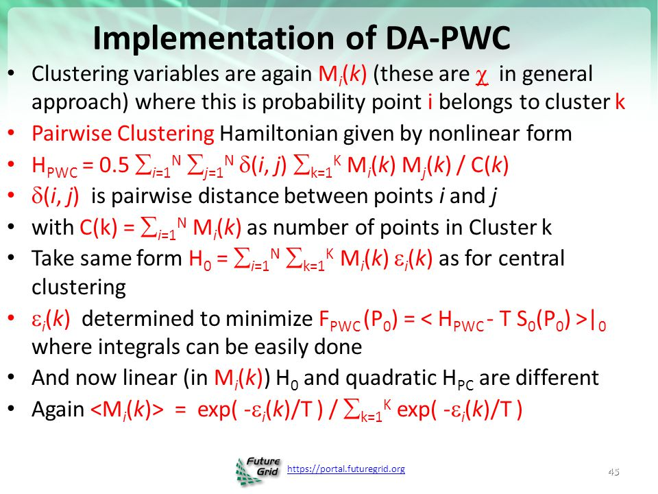 Implementation of DA-PWC