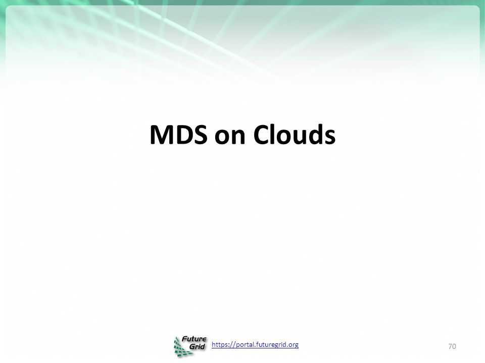 MDS on Clouds