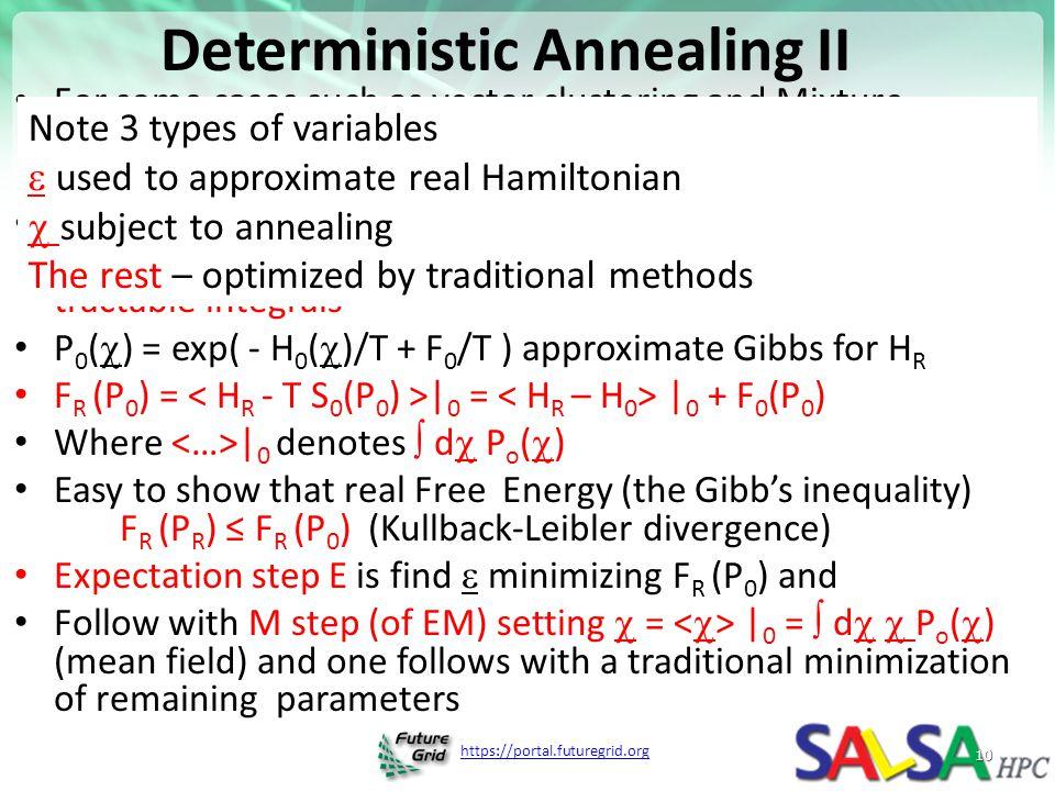 Deterministic Annealing II
