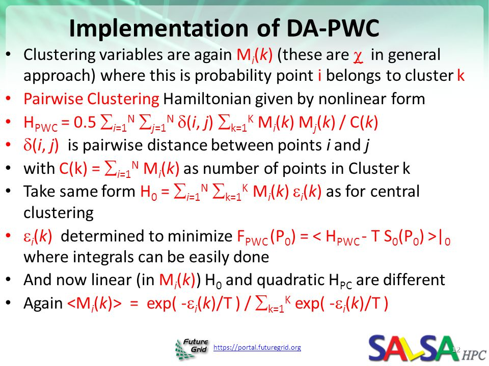 Implementation of DA-PWC