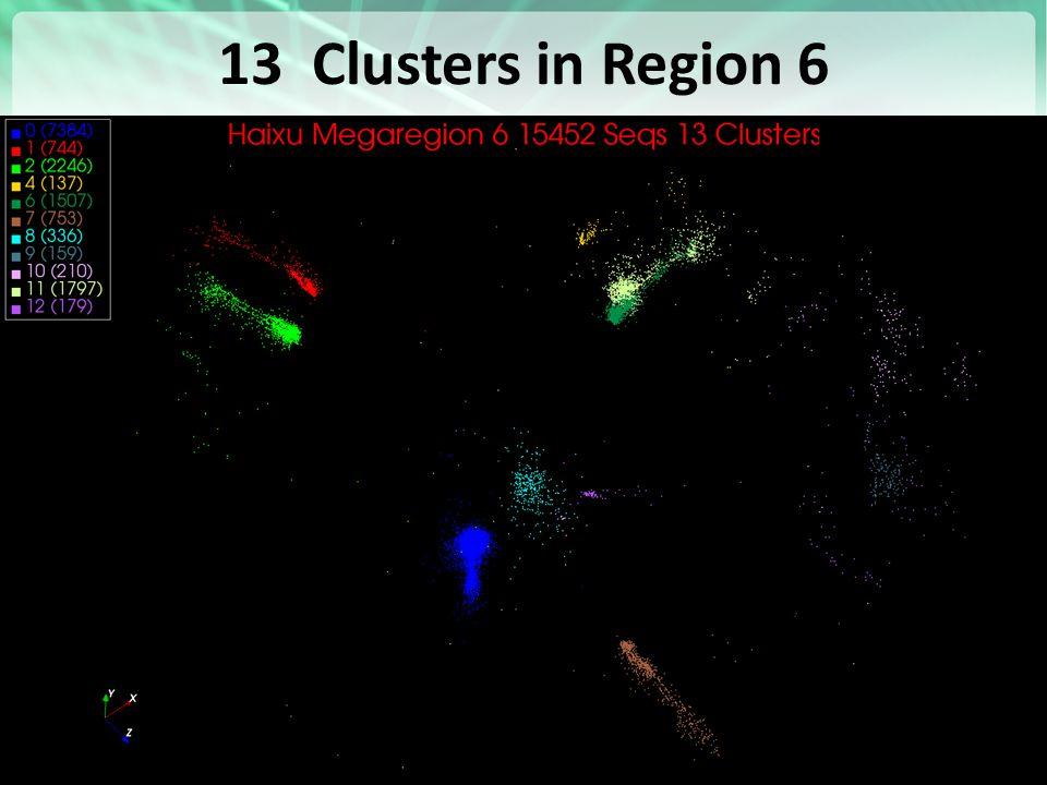 13 Clusters in Region 6