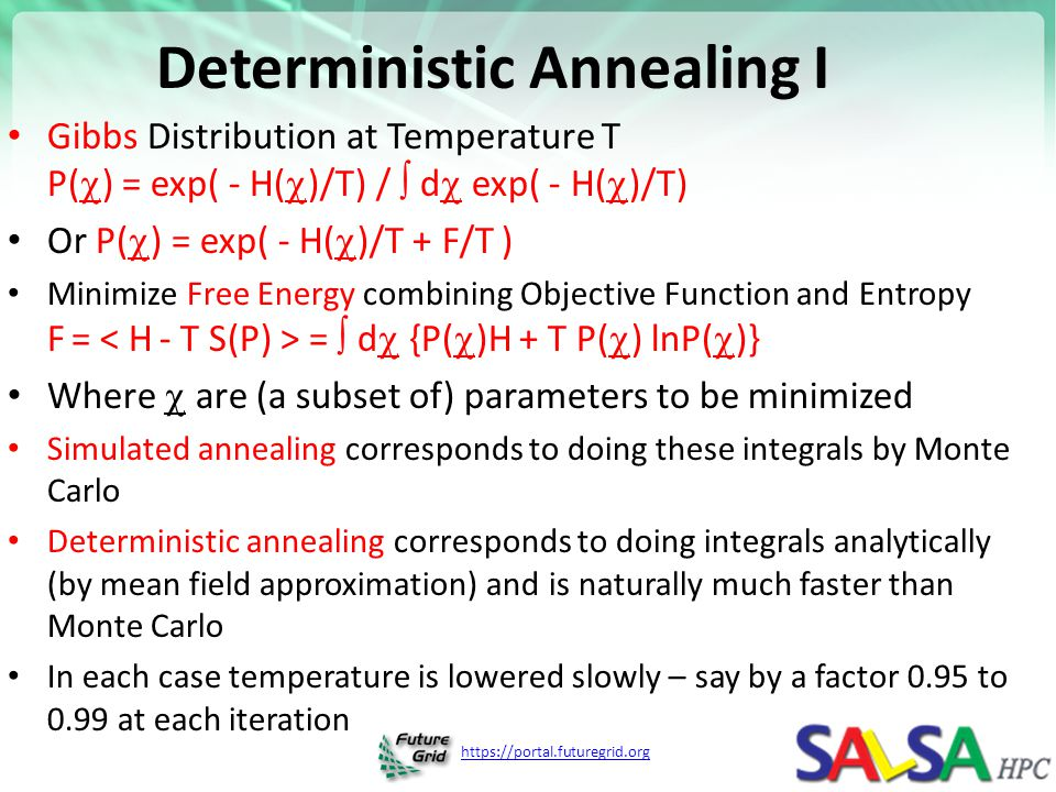 Deterministic Annealing I