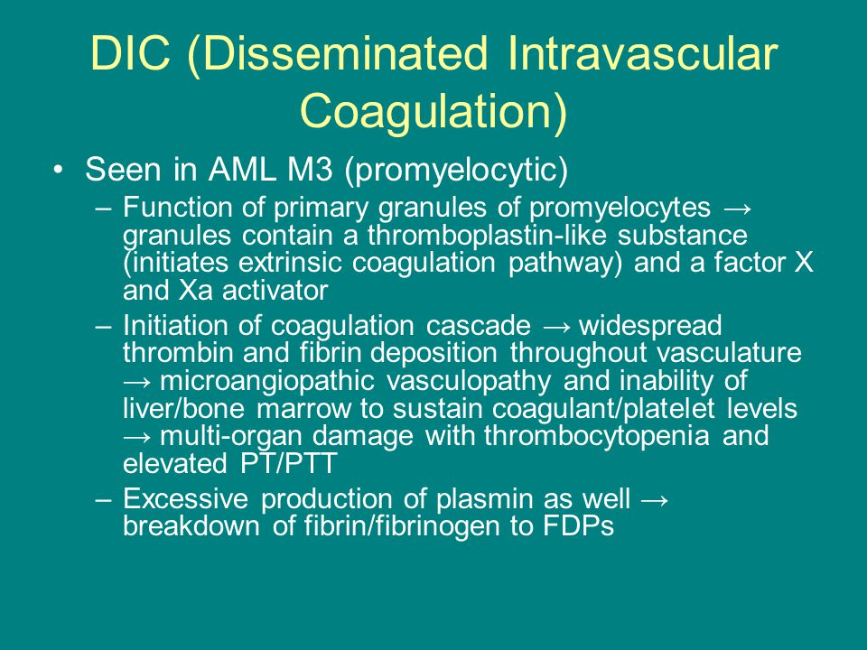 DIC (Disseminated Intravascular Coagulation)