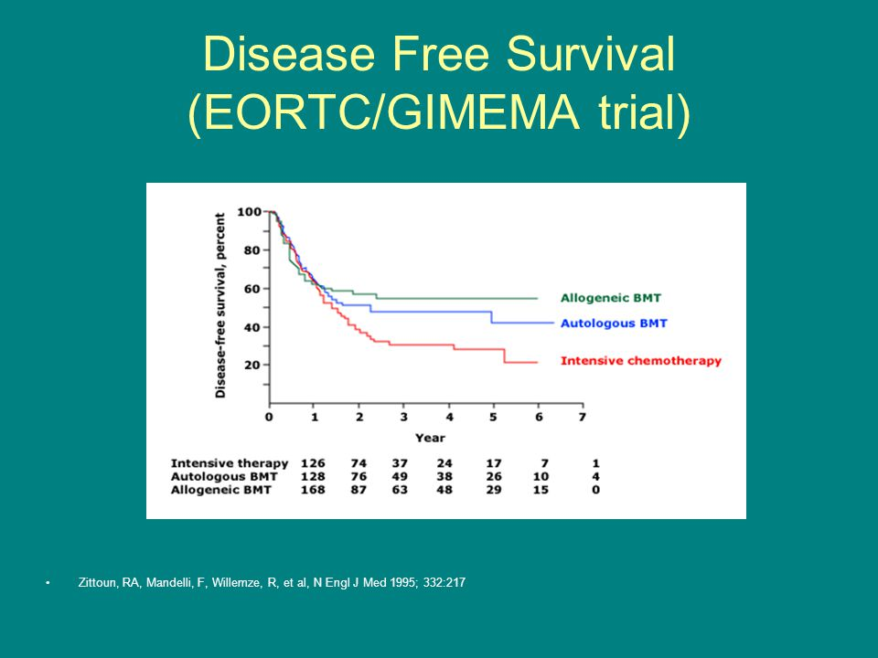 Disease Free Survival (EORTC/GIMEMA trial)