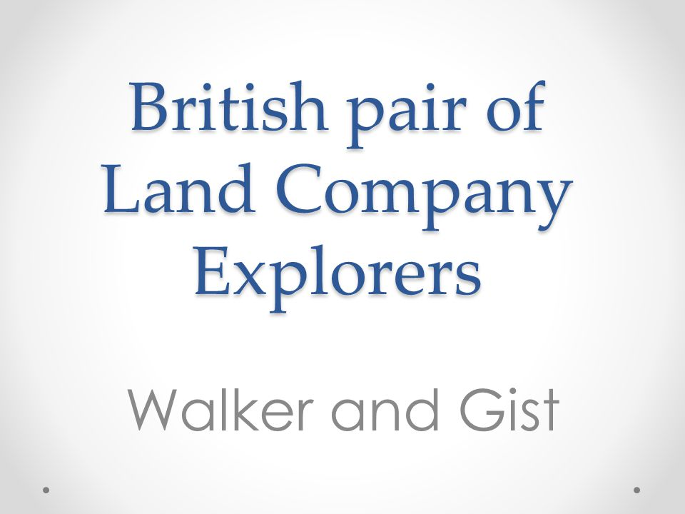 British pair of Land Company Explorers