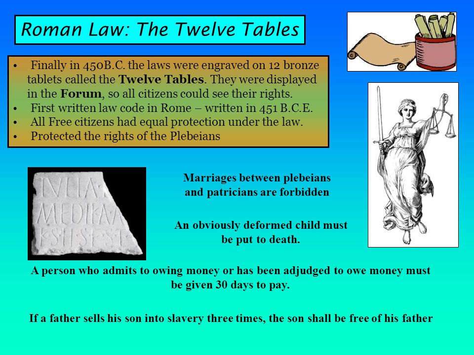 Roman Law: The Twelve Tables