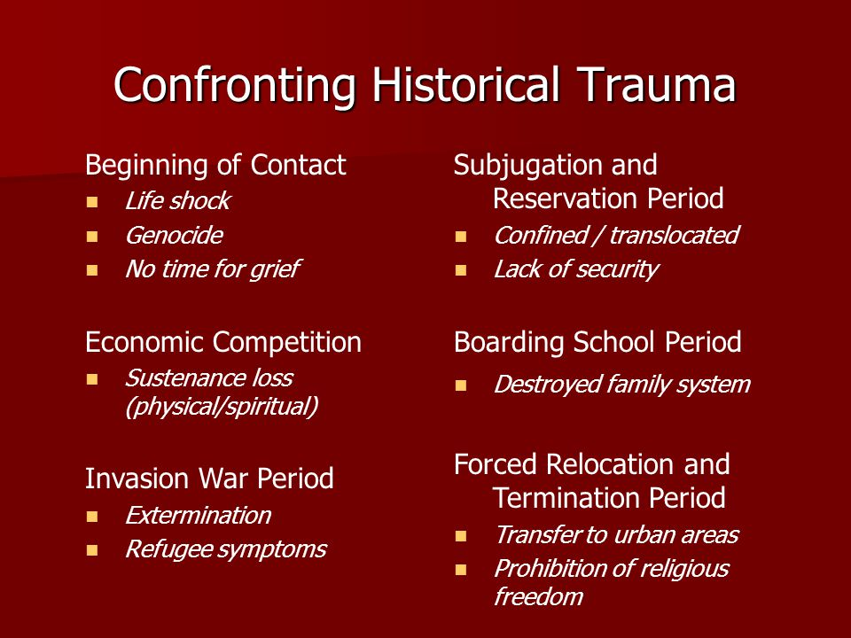 Confronting Historical Trauma
