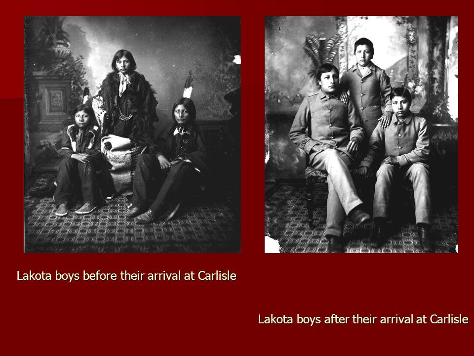 Lakota boys before their arrival at Carlisle
