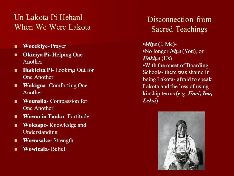 Un Lakota Pi Hehanl When We Were Lakota