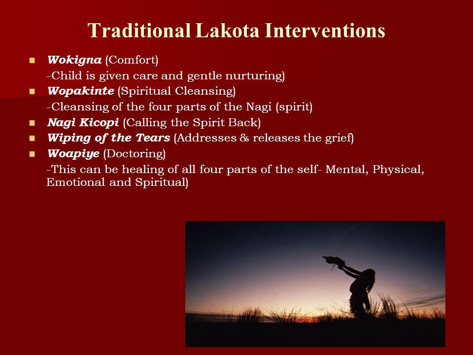 Traditional Lakota Interventions