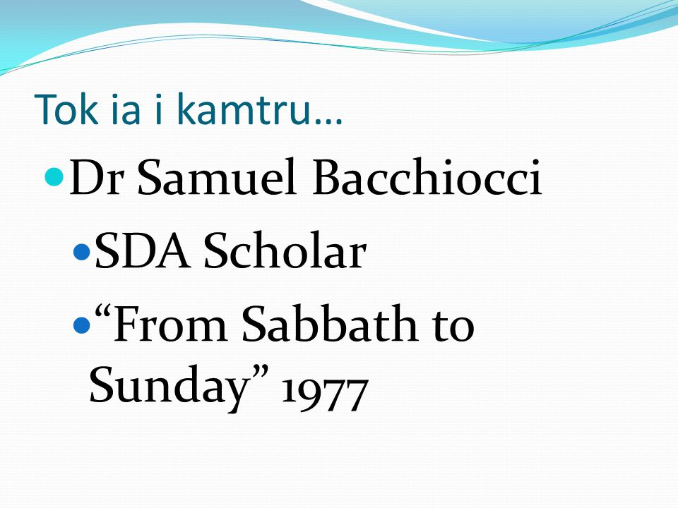 From Sabbath to Sunday 1977