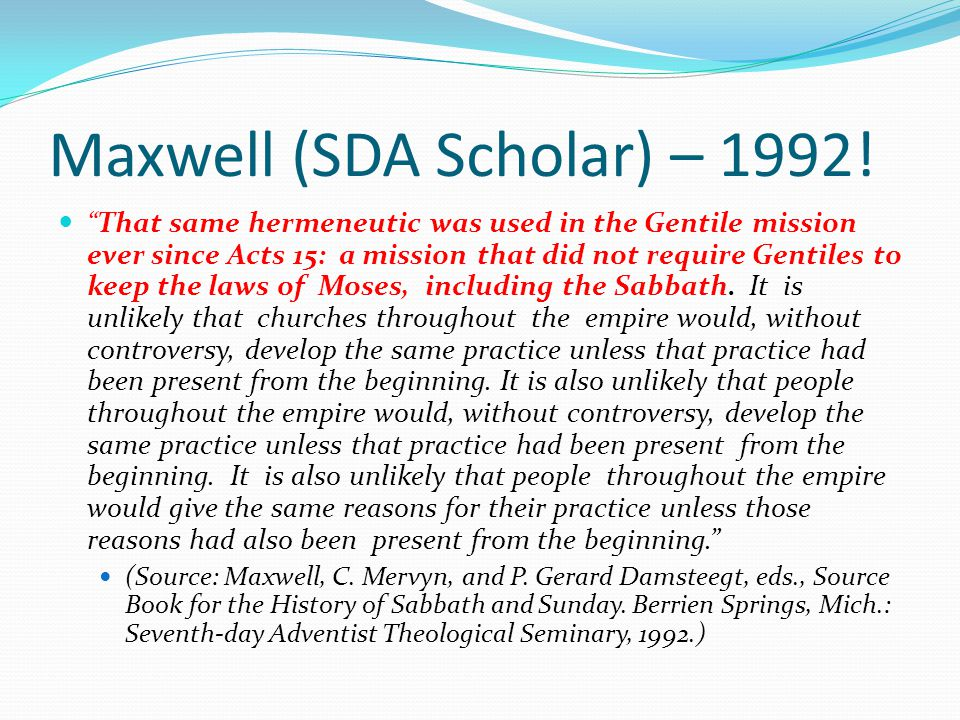 Maxwell (SDA Scholar) – 1992!