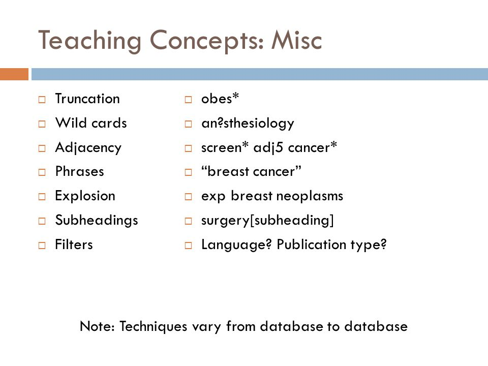 Teaching Concepts: Misc