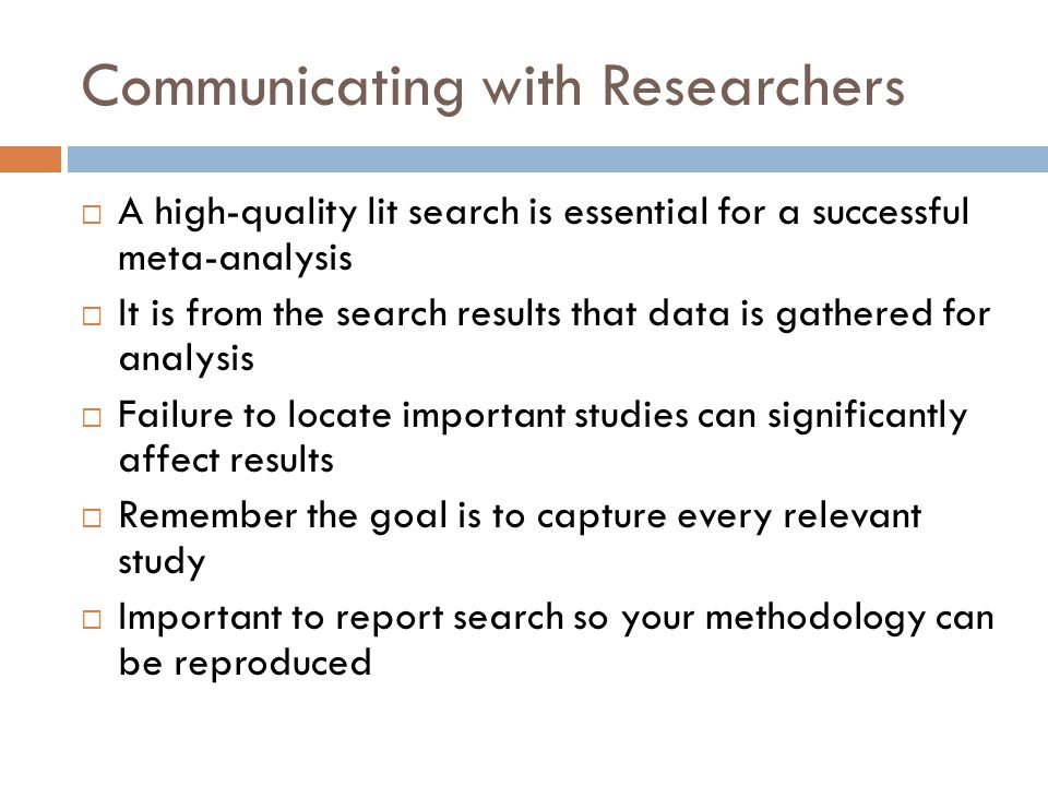 Communicating with Researchers