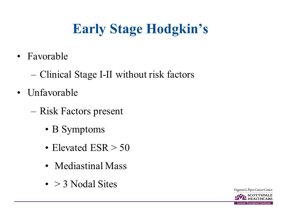 Early Stage Hodgkin's Favorable