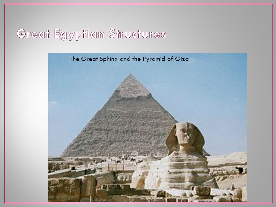 Great Egyptian Structures