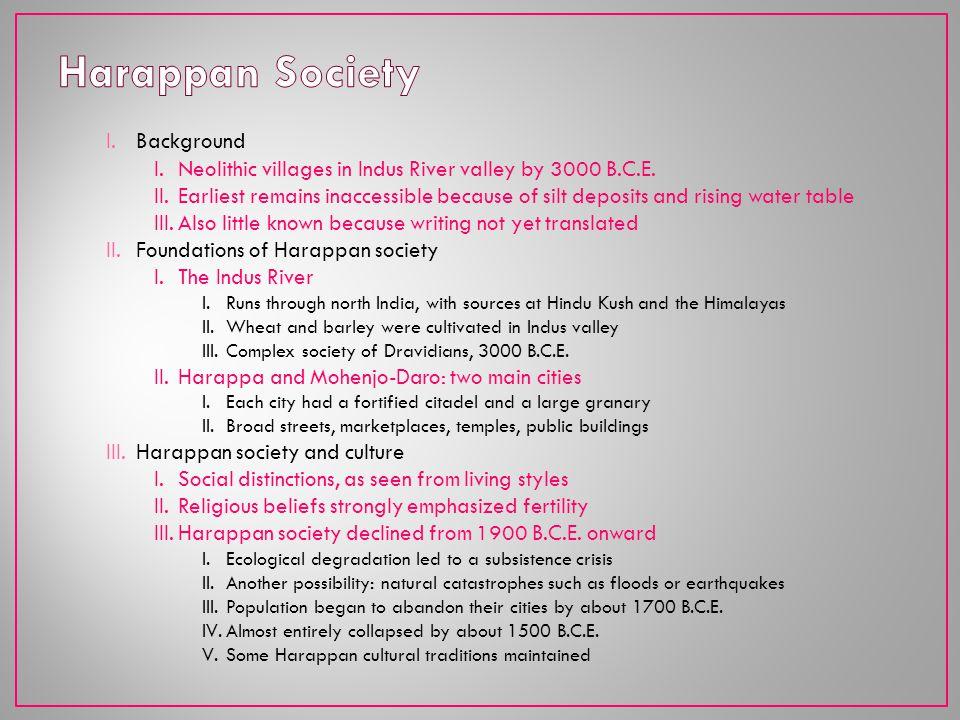 Harappan Society Background