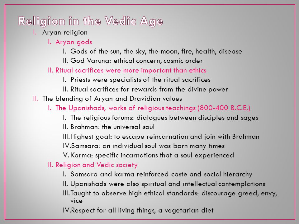 Religion in the Vedic Age
