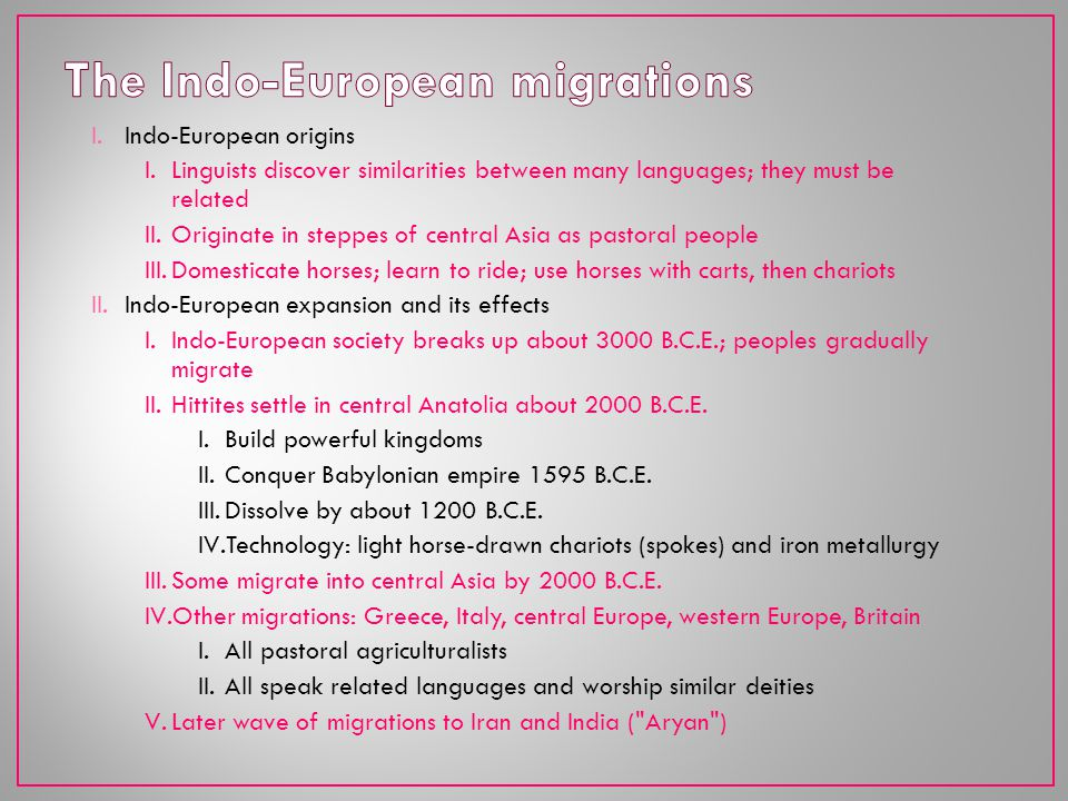 The Indo-European migrations