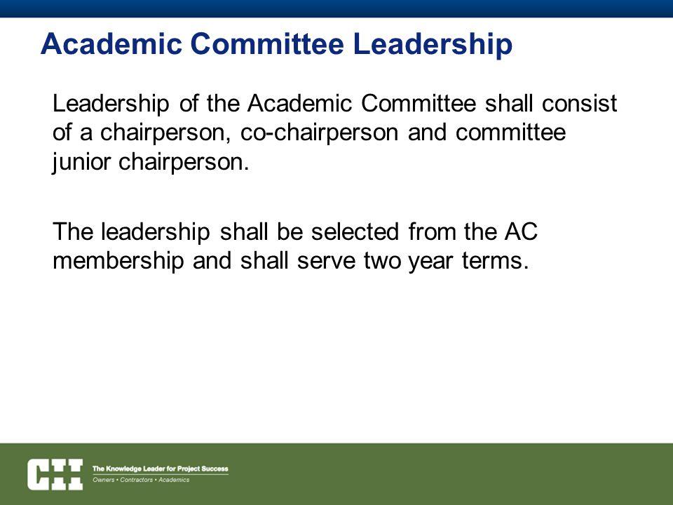 Academic Committee Leadership