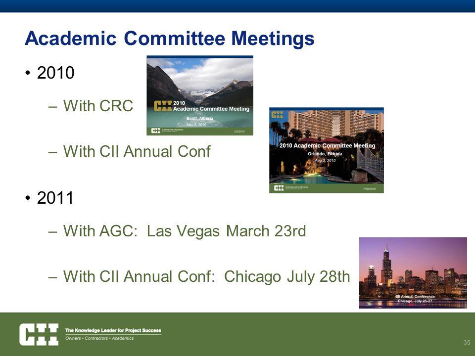 Academic Committee Meetings