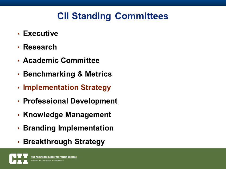 CII Standing Committees