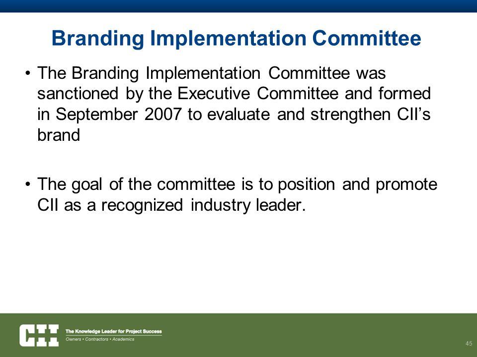 Branding Implementation Committee